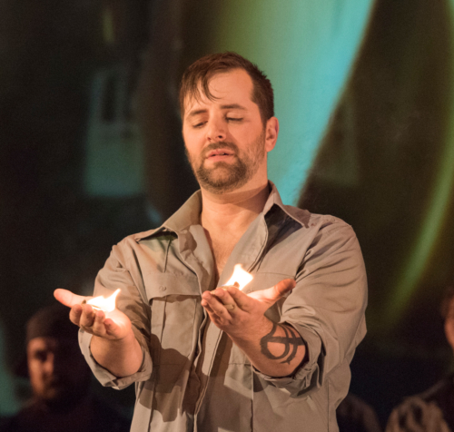 Étienne Dupuis in Les Feluettes. Pacific Opera Victoria, 2017. David Cooper Photography