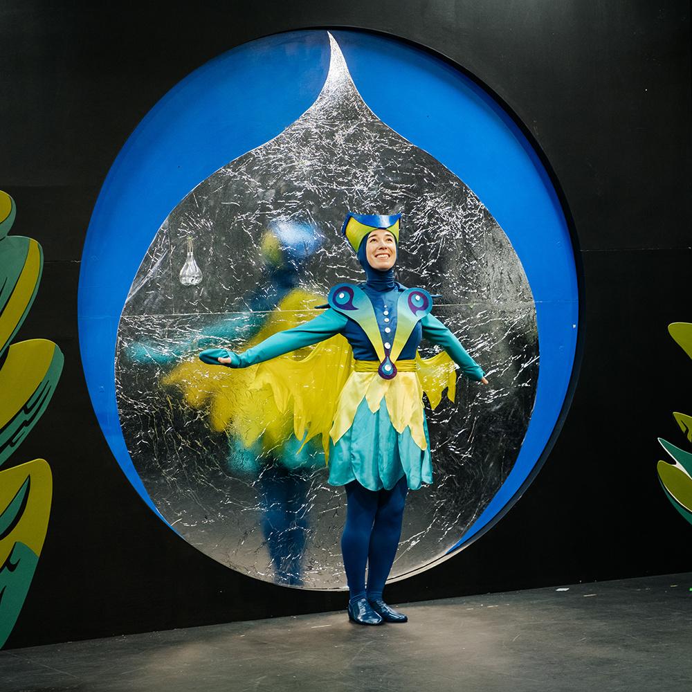 The Flight of the Hummingbird, 2020. Sara Schabas as Dukdukdiya (Hummingbird). Photo: Nadia Zheng
